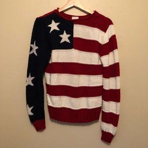 Vintage American Flag Sweater